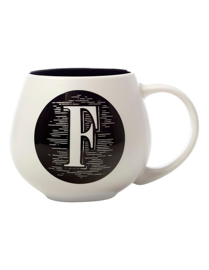"The Letterettes Snug Mug 450ML ""F"" Gift Boxed image 1"