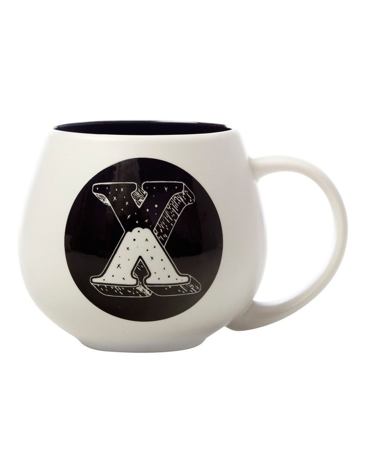 "The Letterettes Snug Mug 450ML ""X"" Gift Boxed image 1"