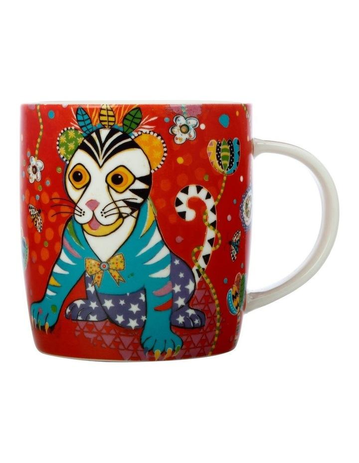 Donna Sharam Rainbow Jungle Mug 370ML Tiger Gift Boxed image 1