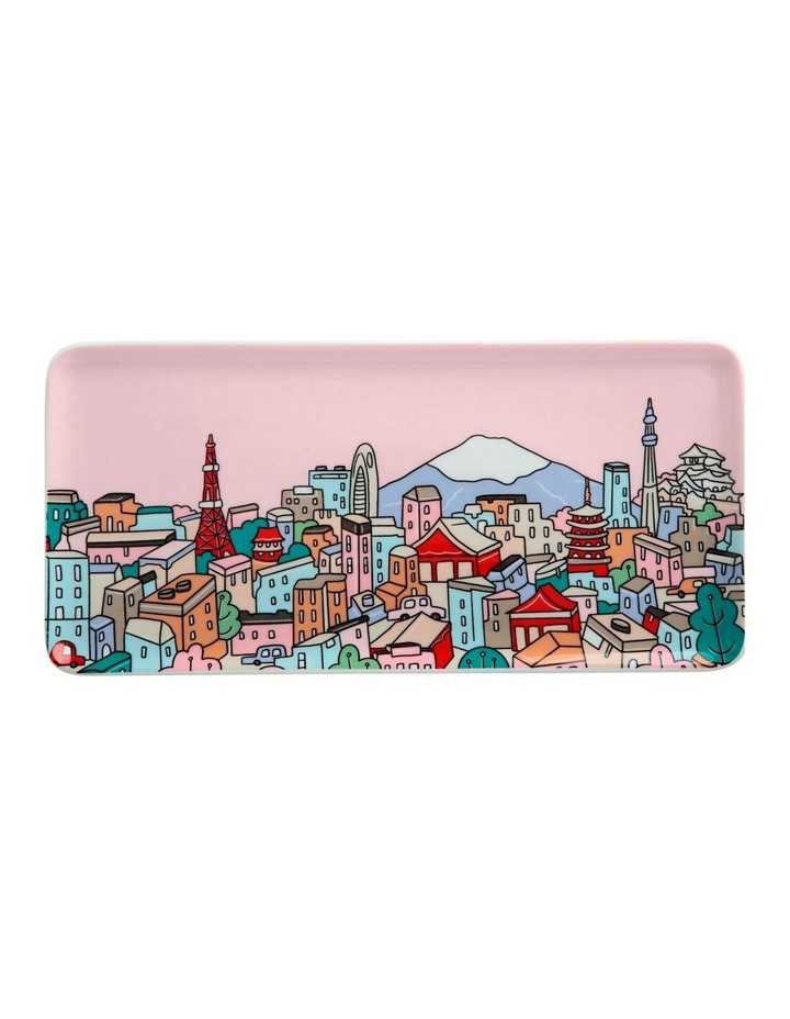 Megan McKean Cities Rectangle Plate 25x12cm Tokyo Gift Boxed image 1