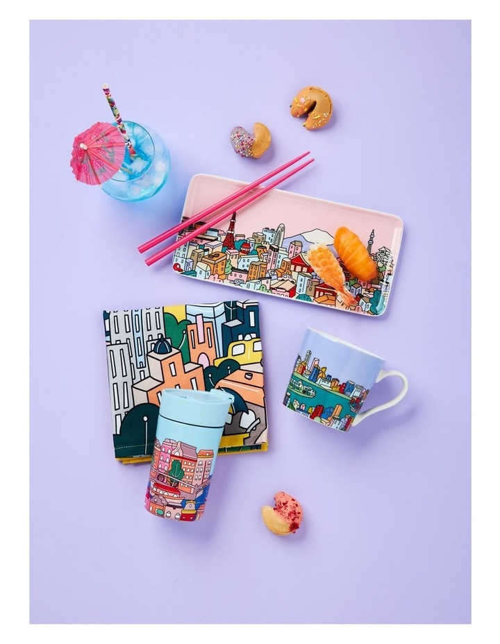 Megan McKean Cities Rectangle Plate 25x12cm Tokyo Gift Boxed image 2