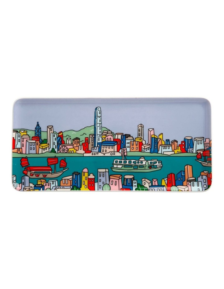Megan McKean Cities Rectangle Plate 25x12cm Hong Kong Gift Boxed image 1