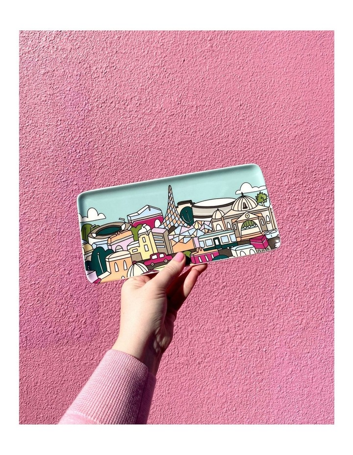 Megan McKean Cities Rectangle Plate 25x12cm Hong Kong Gift Boxed image 4