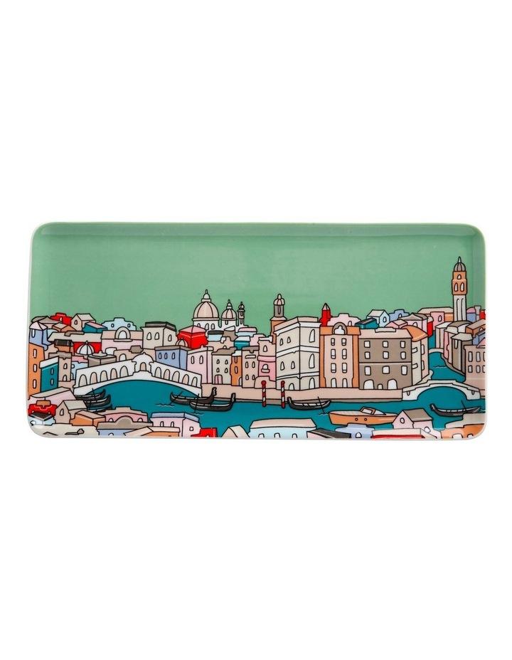 Megan McKean Cities Rectangle Plate 25x12cm Venice Gift Boxed image 1