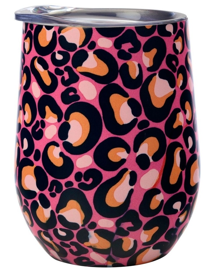 Kasey Rainbow Be Kind Double Wall Insulated Tumbler 350ML Leopard image 1
