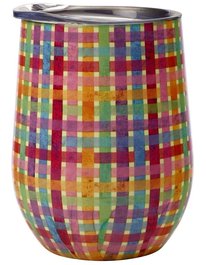 Kasey Rainbow Be Kind Double Wall Insulated Tumbler 350ML Plaid image 1