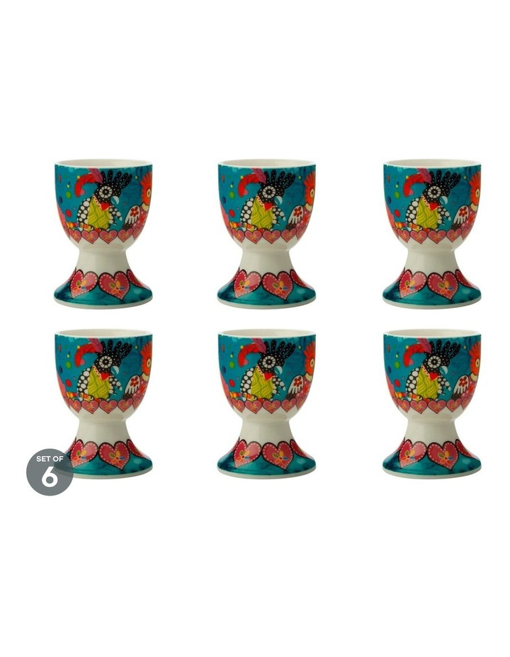 Love Hearts Egg Cup Chatter Set of 6 image 1