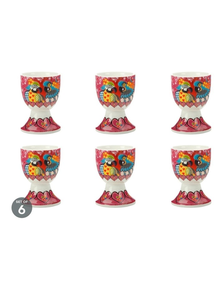 Love Hearts Egg Cup Araras Set of 6 image 1