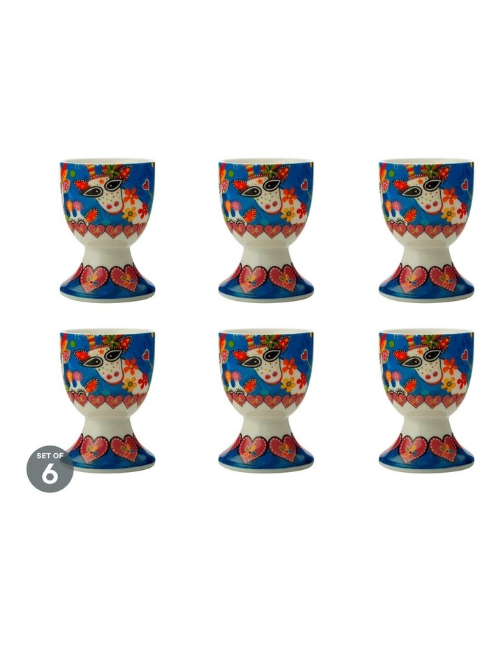 Love Hearts Egg Cup Mr Gee Family Set of 6 image 1
