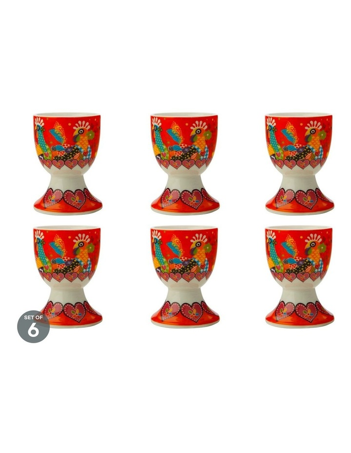 Love Hearts Egg Cup Chicken Dance Set of 6 image 1