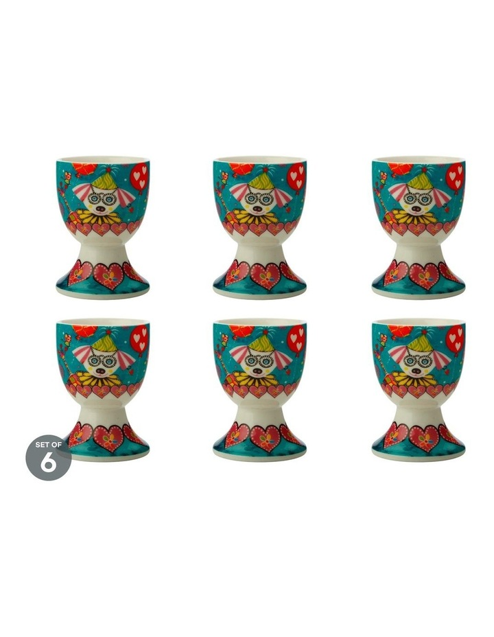Love Hearts Egg Cup Oodles Of Love Set of 6 image 1