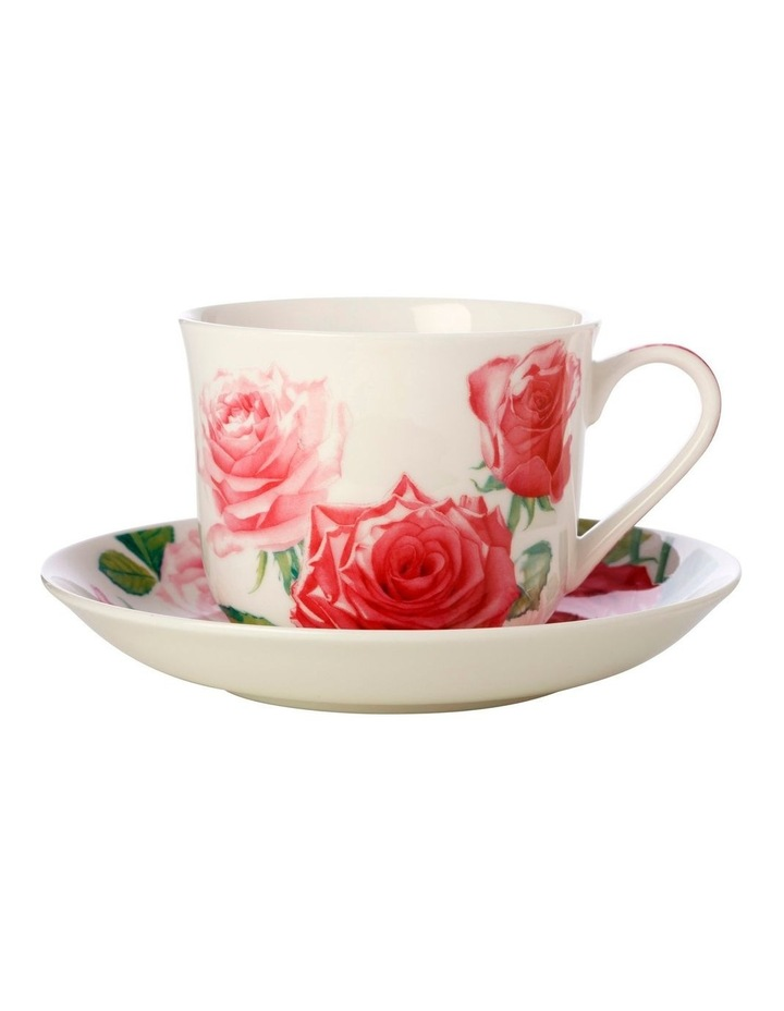 Katherine Castle Floriade Breakfast Cup & Saucer 480ML Rose Gift Boxed image 1