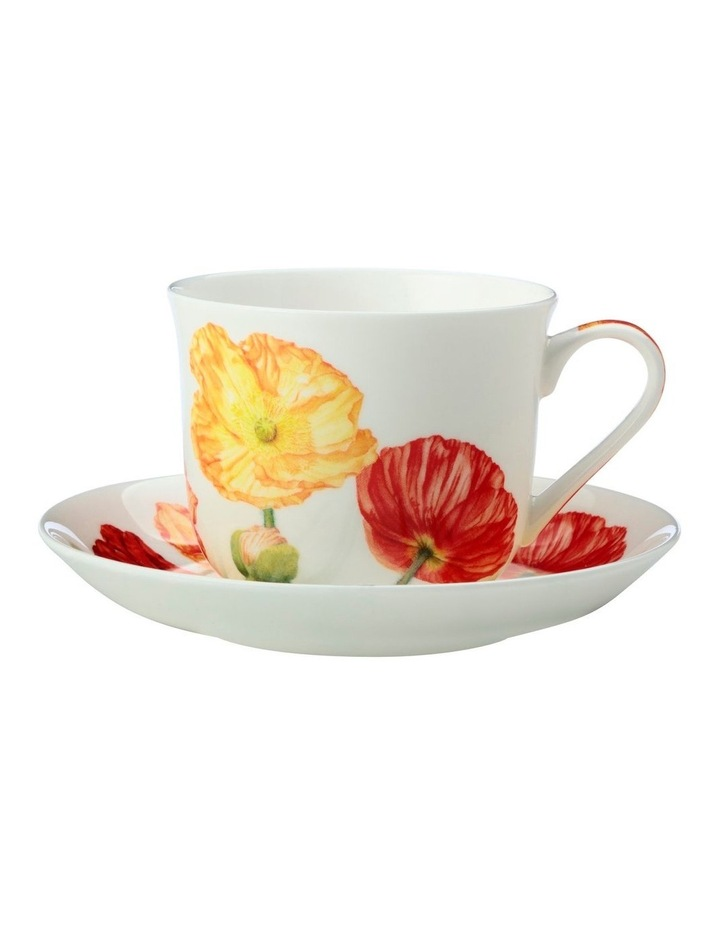 Katherine Castle Floriade Breakfast Cup & Saucer 480ML Poppy Gift Boxed image 1