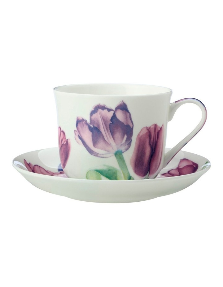 Katherine Castle Floriade Breakfast Cup & Saucer 480ML Tulip Gift Boxed image 1