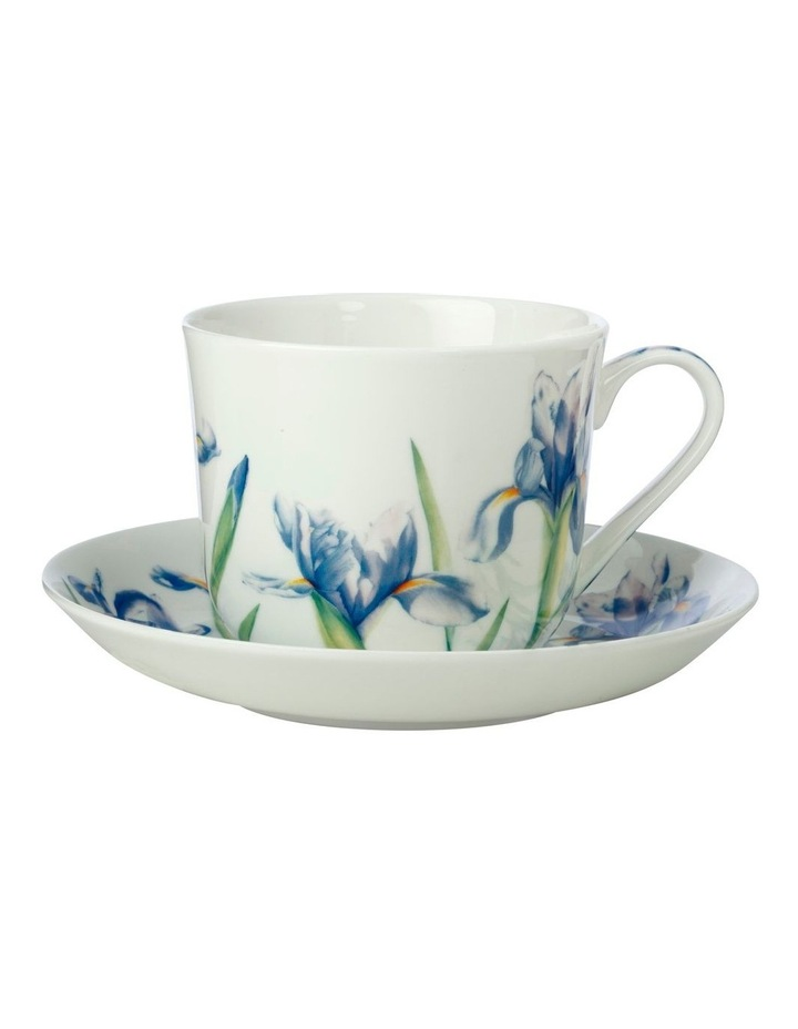 Katherine Castle Floriade Breakfast Cup & Saucer 480ML Iris Gift Boxed image 1