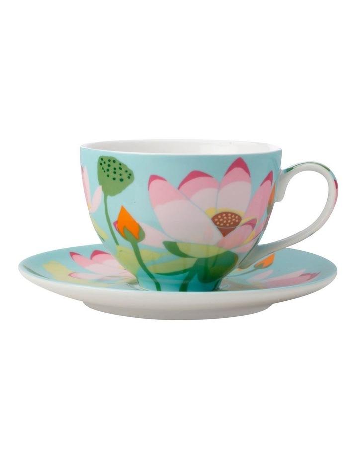 Royal Botanic Gardens Lotus Cup & Saucer 240ML Mint Gift Boxed image 1