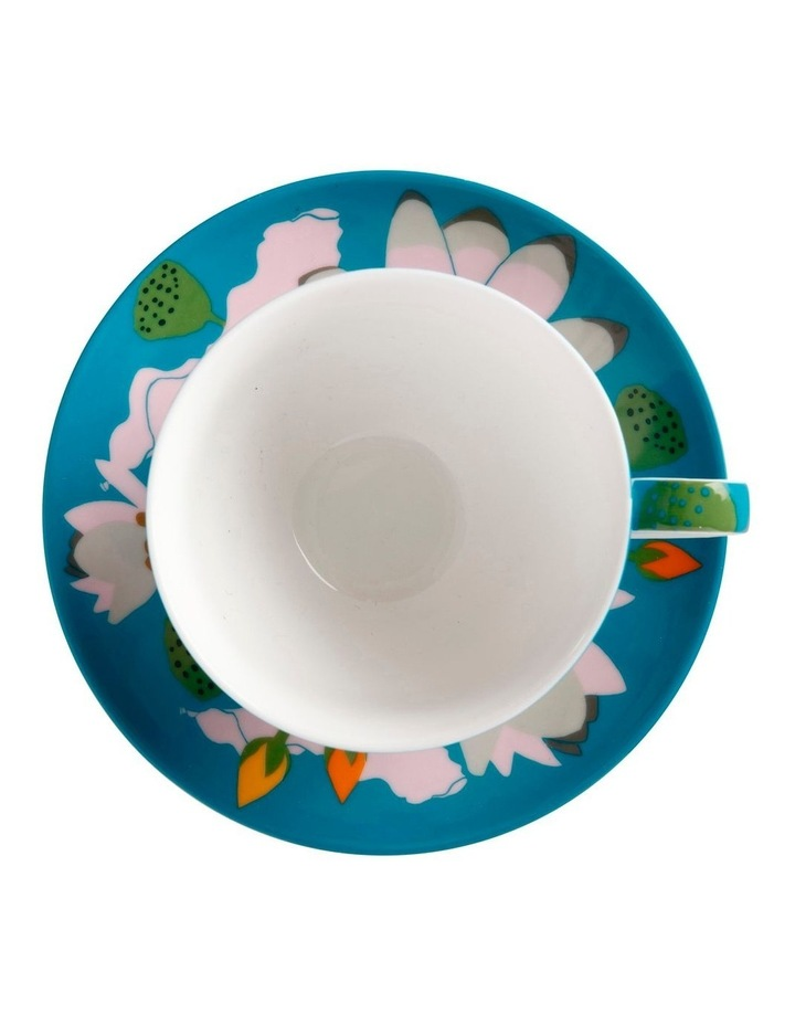 Royal Botanic Gardens Lotus Cup & Saucer 240ML Aqua Gift Boxed image 2
