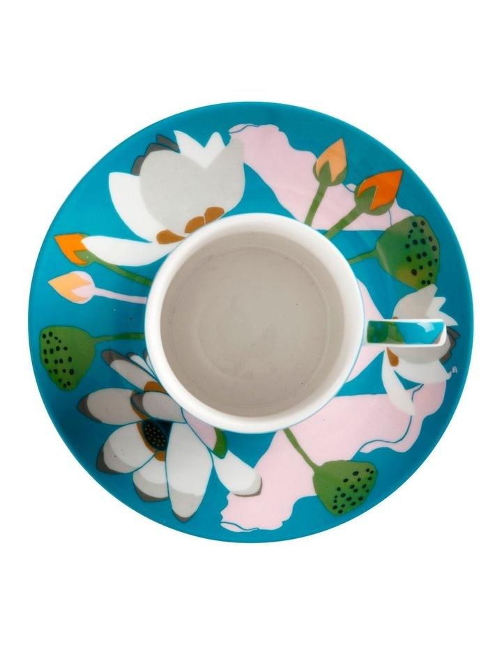 Royal Botanic Gardens Lotus Demi Cup & Saucer 100ML Aqua Gift Boxed image 2