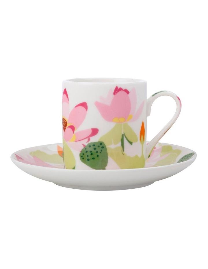 Royal Botanic Gardens Lotus Demi Cup & Saucer 100ML White Gift Boxed image 1