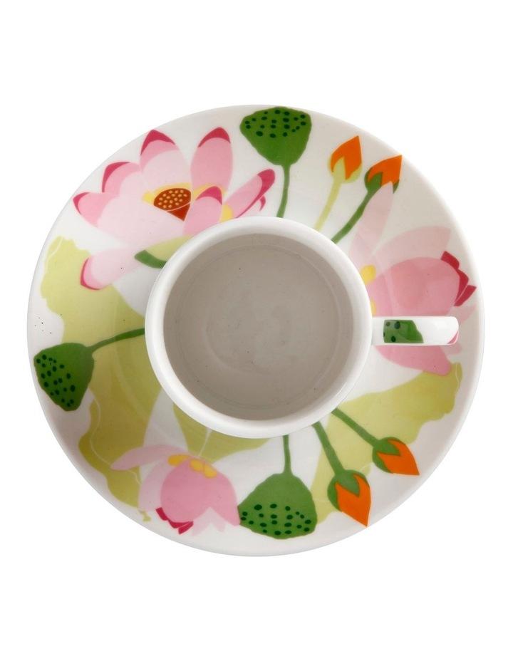 Royal Botanic Gardens Lotus Demi Cup & Saucer 100ML White Gift Boxed image 2