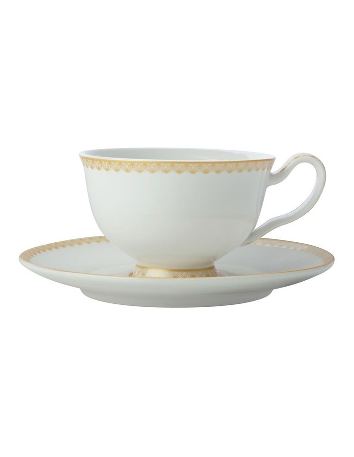 Teas & C's Classic Footed Cup & Saucer 200ML White Gift Boxed image 1