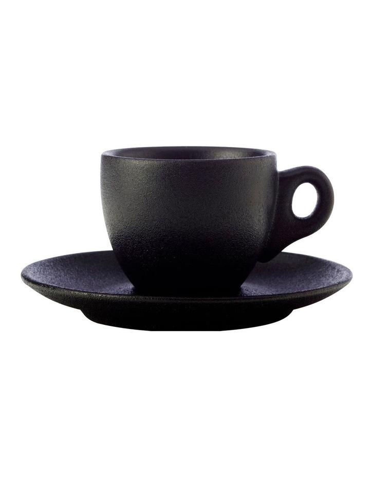 Caviar Demi Cup & Saucer 100ML Black image 1