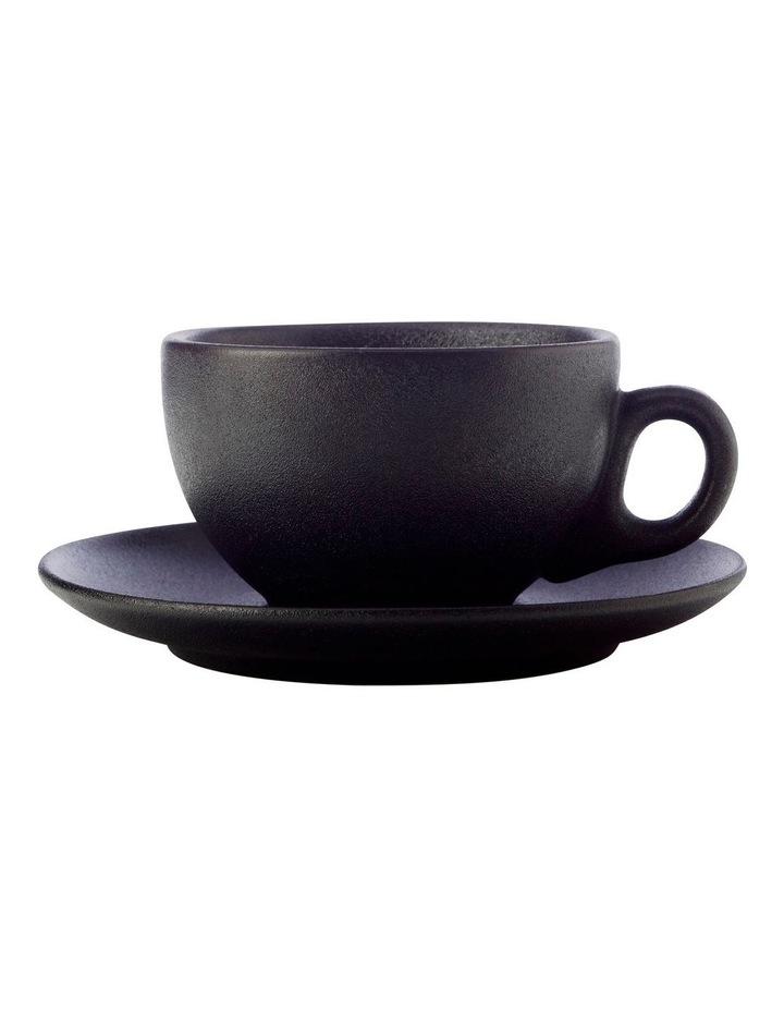 Caviar Coupe Cup & Saucer 250ML Black image 1