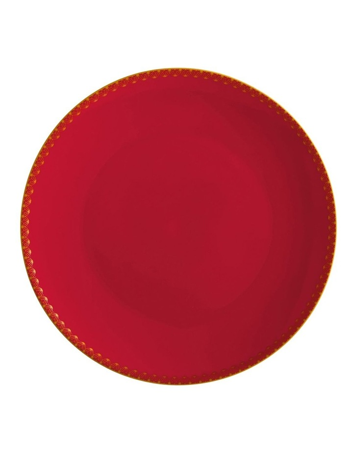 Teas & C's Classic Coupe Plate 19.5cm Cherry Red Gift Boxed image 1