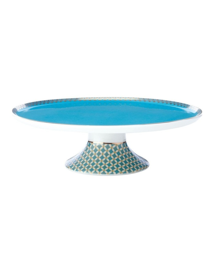 Teas & C's Classic Footed Cake Stand 19.5cm Aqua Gift Boxed image 1