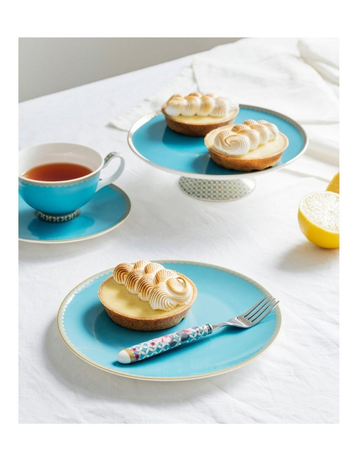 Teas & C's Classic 200ml Gift Boxed Footed Cup & Saucer Set in Aqua image 2