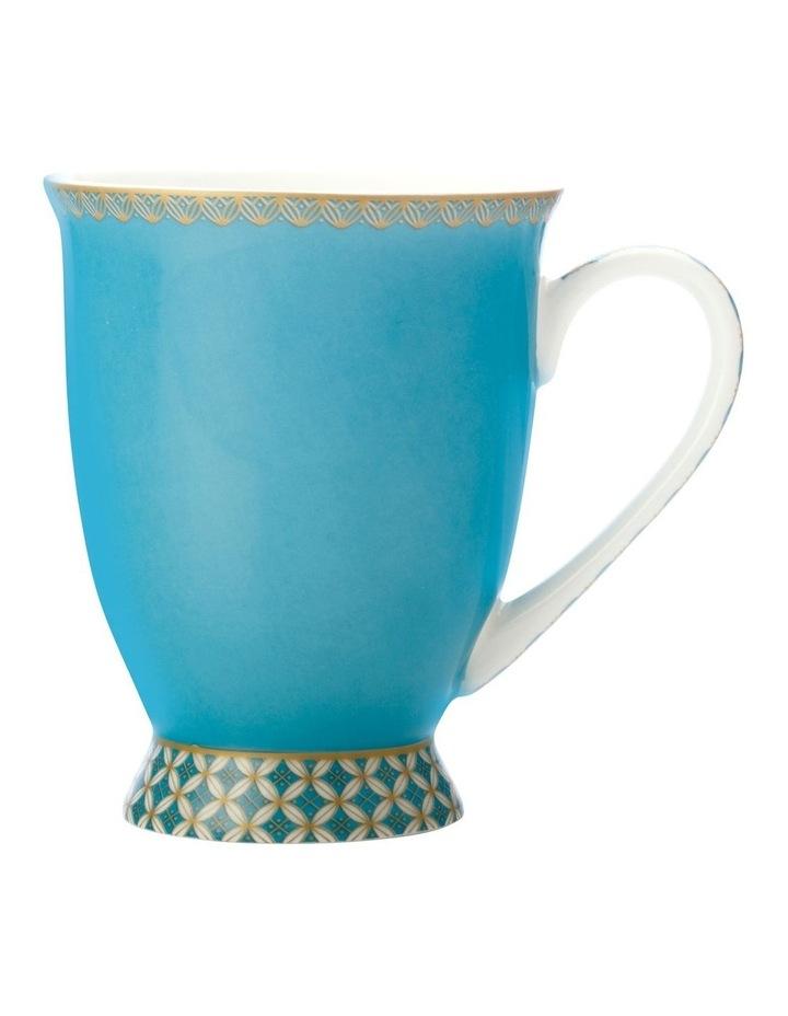Teas & C's Classic Footed Mug 300ML Aqua Gift Boxed image 1