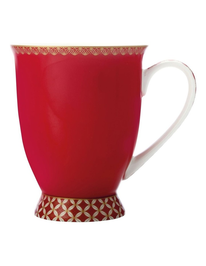 Teas & C's Classic Footed Mug 300ML Cherry Red Gift Boxed image 1