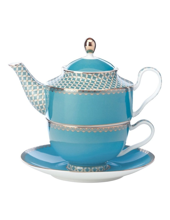 Teas & C's Classic Tea for One with Infuser 380ML Aqua Gift Boxed image 1