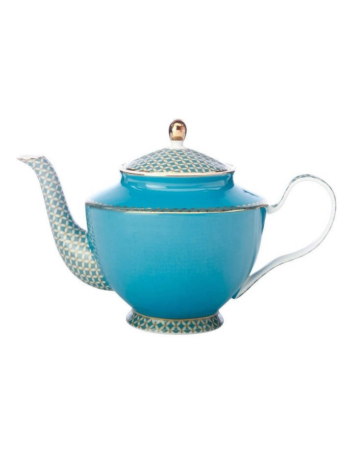Teas & C's Classic 1L Teapot Tea for One with Infuser in Aqua image 1