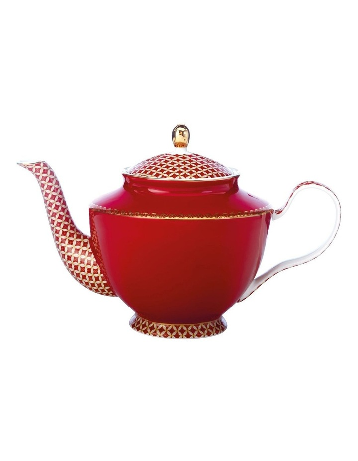 Teas & C's Classic Teapot with Infuser 1L Cherry Red Gift Boxed image 1