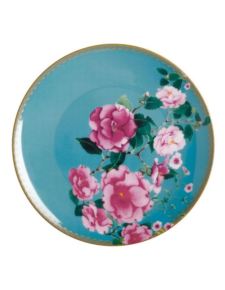 Teas & C's Silk Road Coupe Plate 19.5cm Aqua Gift Boxed image 1