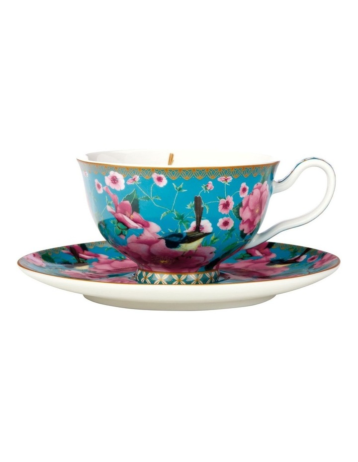 Teas & C's Silk Road Footed Cup & Saucer 200ML Aqua Gift Boxed image 1