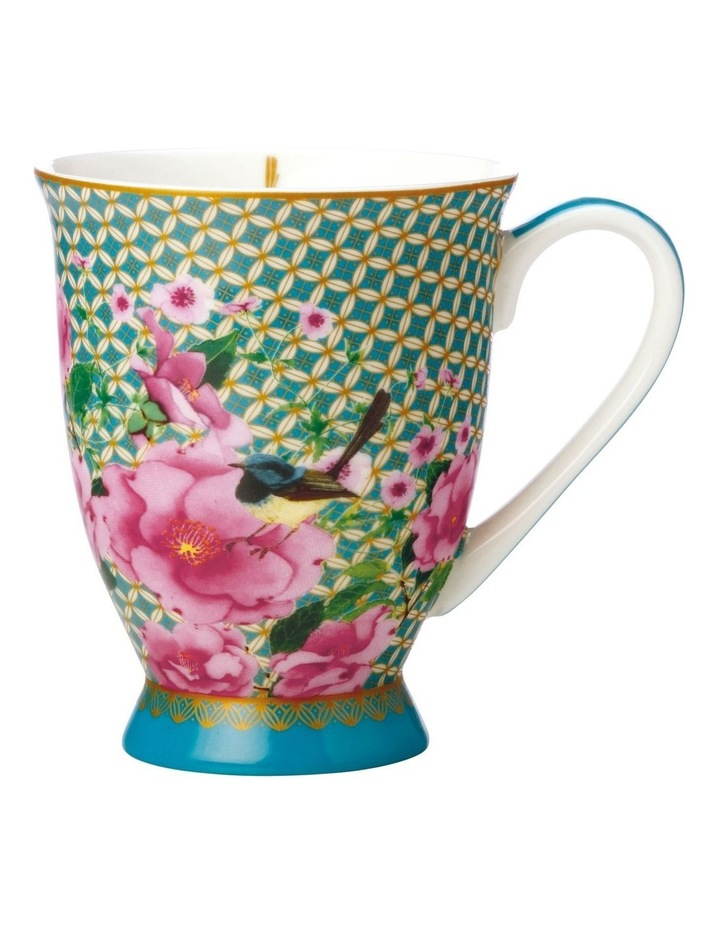 Teas & C's Silk Road Footed Mug 300ML Aqua Gift Boxed image 1