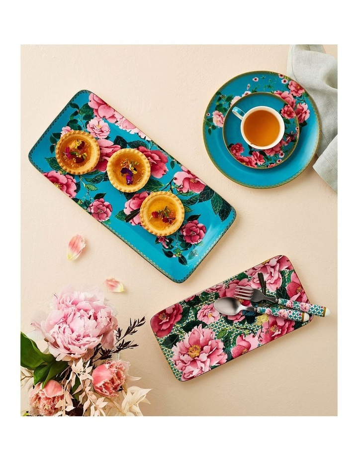 Teas & C's Silk Road Rectangle Platter 25x12cm Aqua Gift Boxed image 2