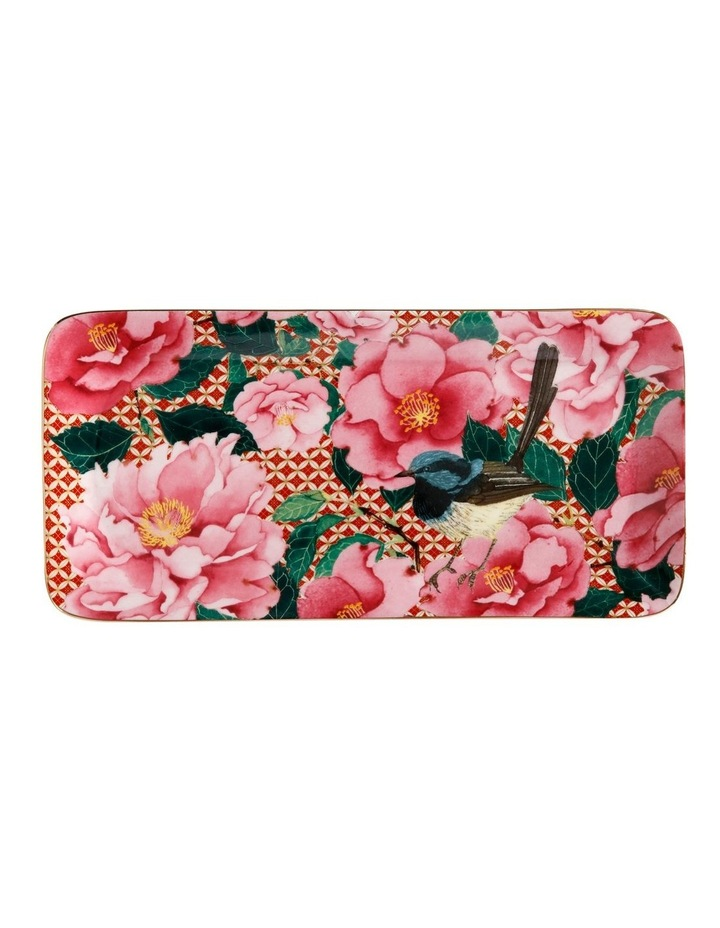 Teas & C's Silk Road Rectangle Platter 25x12cm Cherry Red Gift Boxed image 1