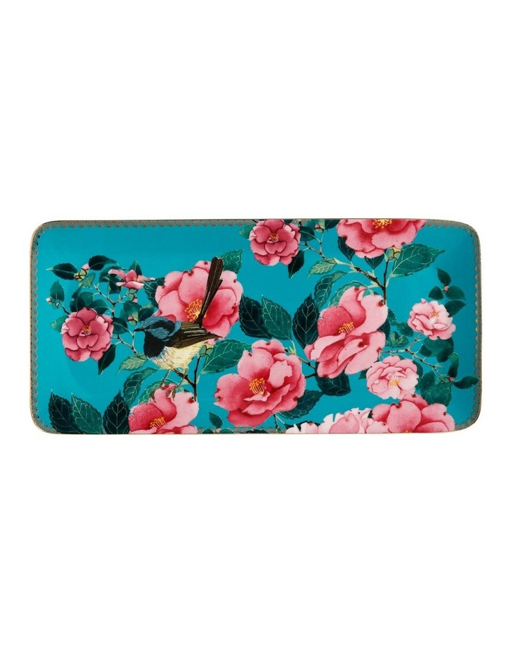 Teas & C's Silk Road Rectangle Platter 33x15.5cm Aqua Gift Boxed image 1