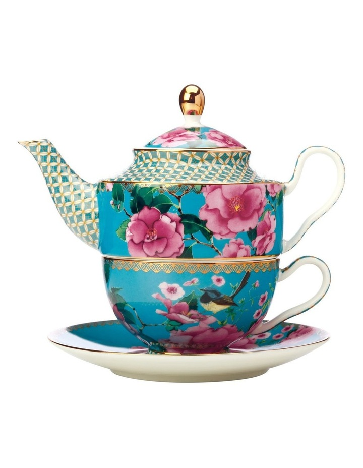 Teas & C's Silk Road Tea for One with Infuser 380ML Aqua Gift Boxed image 1