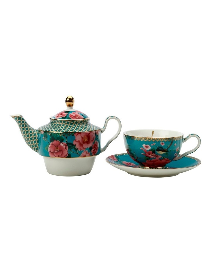 Teas & C's Silk Road Tea for One with Infuser 380ML Aqua Gift Boxed image 2