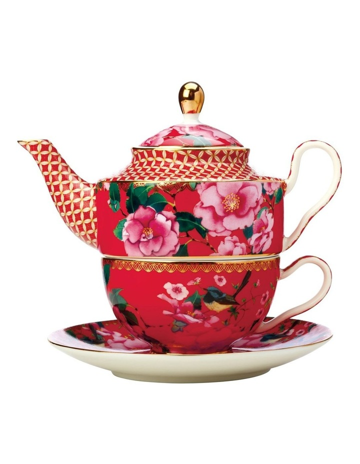 Teas & C's Silk Road Tea for One with Infuser 380ML Cherry Red Gift Boxed image 1