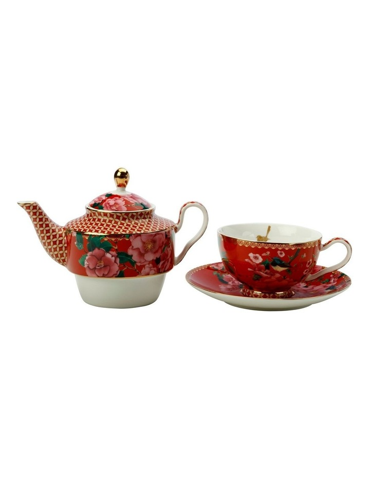 Teas & C's Silk Road Tea for One with Infuser 380ML Cherry Red Gift Boxed image 2