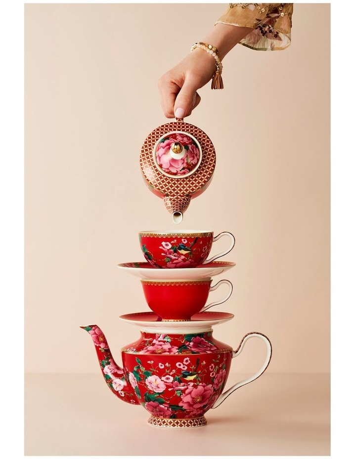 Teas & C's Silk Road Tea for One with Infuser 380ML Cherry Red Gift Boxed image 5