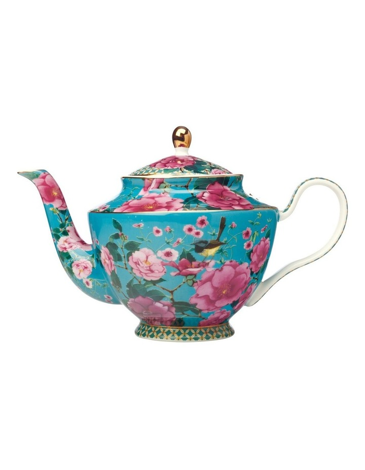 Teas & C's Silk Road Teapot with Infuser 1L Aqua Gift Boxed image 1