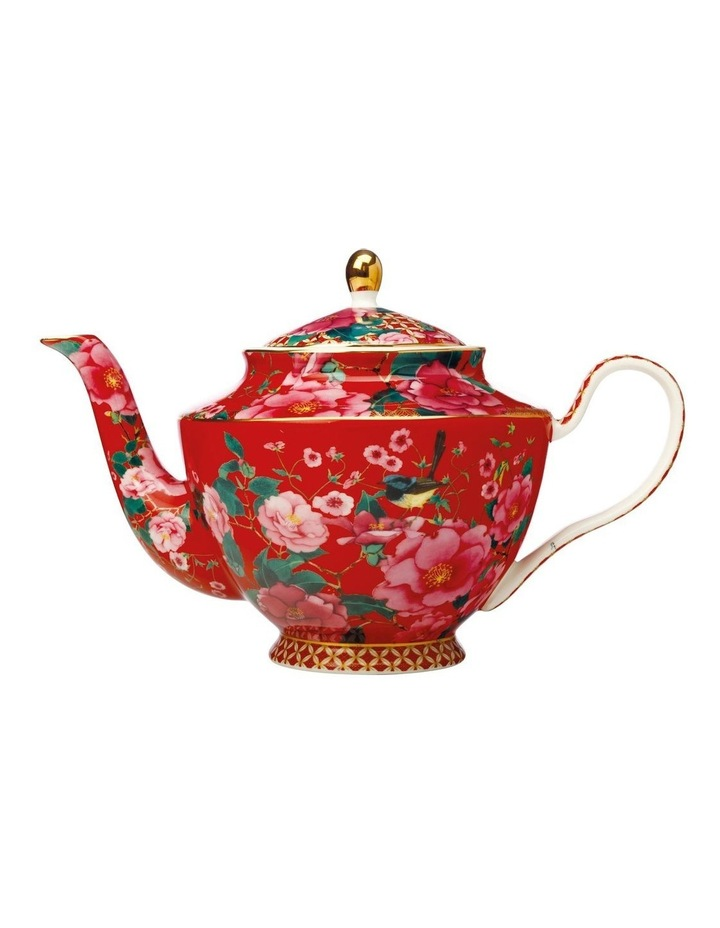 Teas & C's Silk Road 1L Teapot Tea for One with Infuser in Red image 1