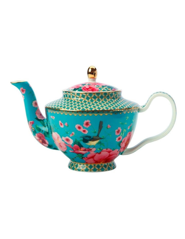 Teas & C's Silk Road Teapot with Infuser 500ML Aqua Gift Boxed image 1