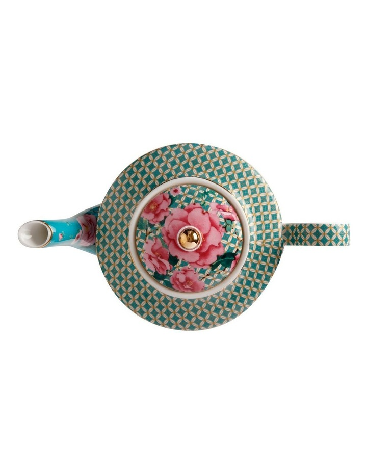 Teas & C's Silk Road Teapot with Infuser 500ML Aqua Gift Boxed image 2